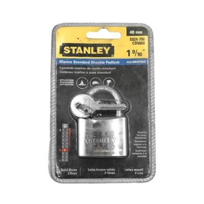 กุญแจ ชุบโครเมี่ยม S824-706 40มม STANLEY