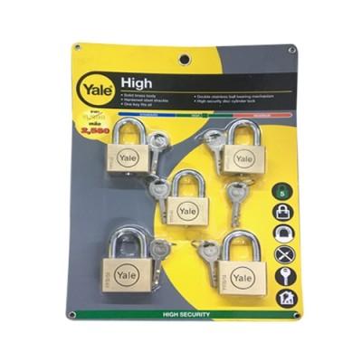 กุญแจคล้อง BD45-50SSM5 5ตัวชุด YALE