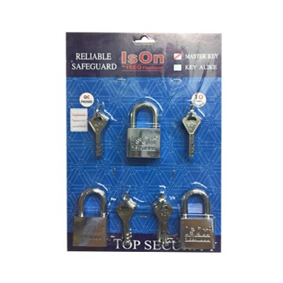 กุญแจชุด Master Key 877 40มม. ISEO 3ตัวชุด