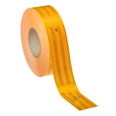 แถบสะท้อนแสงติดรถไดมอนด์เกรด 55mm*50m (983-10) 3M สีเหลือง