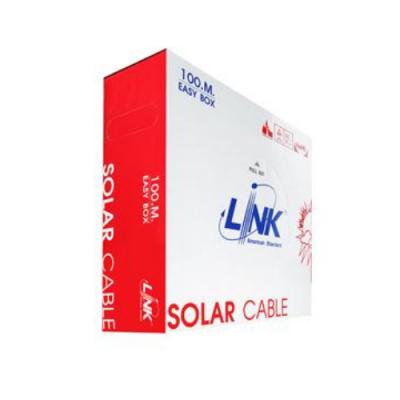 สายไฟโซล่าเซลล์ PV 4.0mm LINK CB-1040R-1 สีแดง (100 M./Bx.)