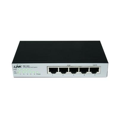 4-Port Switch PoE (10/100) 60W PSF-1004 LINK