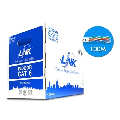 สายแลน CAT6 UTP US9106-1 LINK (100ม.)