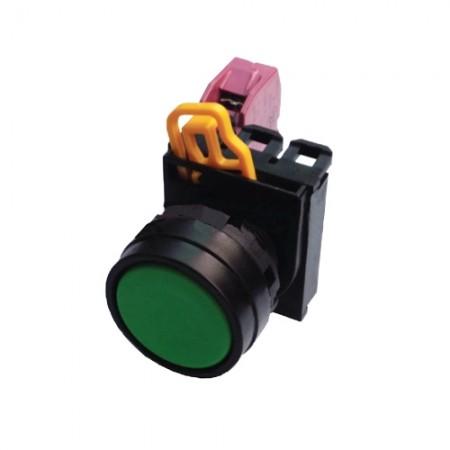 สวิทซ์กดจม 22มม 1NC YW1B-M1E01 เขียว  IDEC