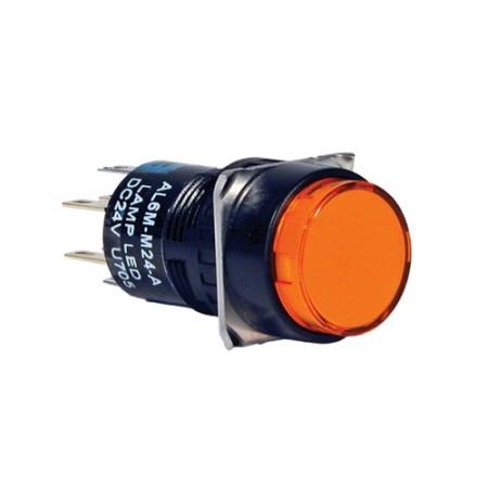 สวิทกดเด้งมีไฟ16มมAL6M-M24A(2NO+2NC)IDEC