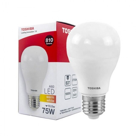 หลอดไฟLED A60 10W WW E27 (G3)  LT TOSHIBA
