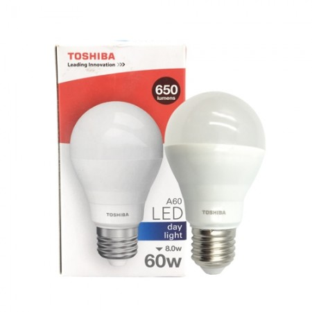 หลอดไฟ LED A60 8W DL E27 (G3) TOSHIBA