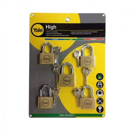 กุญแจคล้อง BD45/50M5 5ตัวชุด YALE