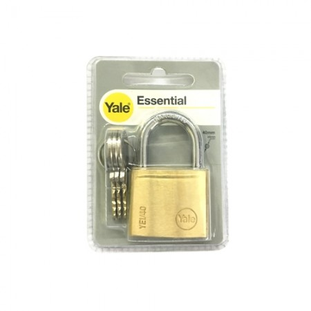 กุญแจคล้อง 40มม. YE40L YALE ทองเหลืองแท้