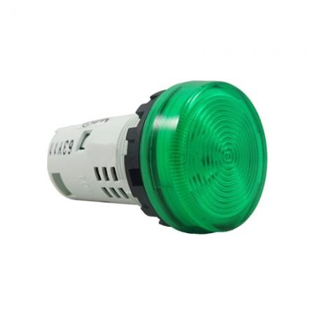 ไพล็อตแลม22มมLEDYW1P-1UQM3/220V เขียว IDEC