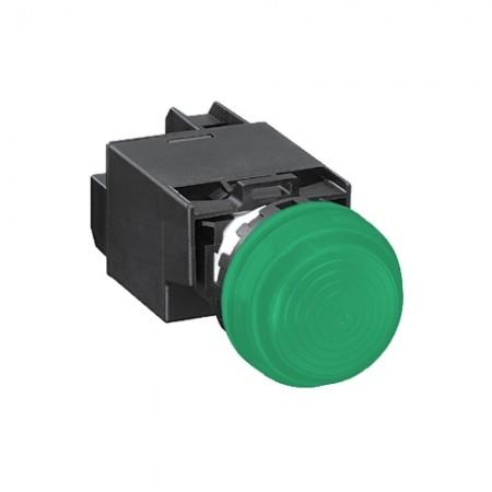 ไพล็อตแลมป์22มมYW1P-2EM42 220Vสีเขียว IDEC