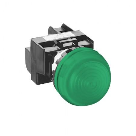 ไพล็อตแลมป22มมLEDYW1P2EQM3/220V สีเขียว IDEC
