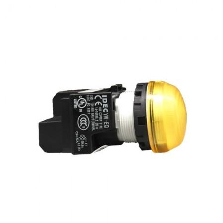 ไพล็อตแลม22มมLED-2EQM3/220Vสีเหลือง IDEC