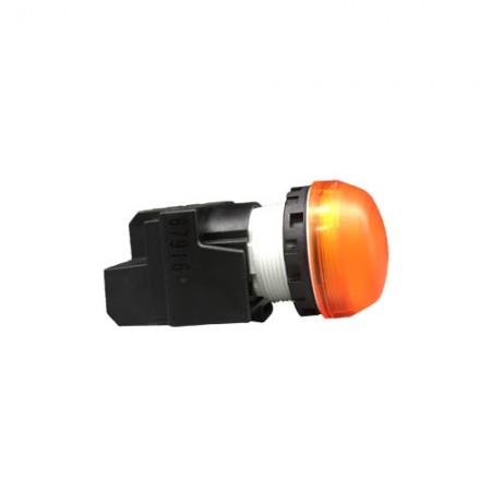 ไพล็อตแลม22มม LED-2EQM3/220Vสีเหลืองอำพัน IDEC