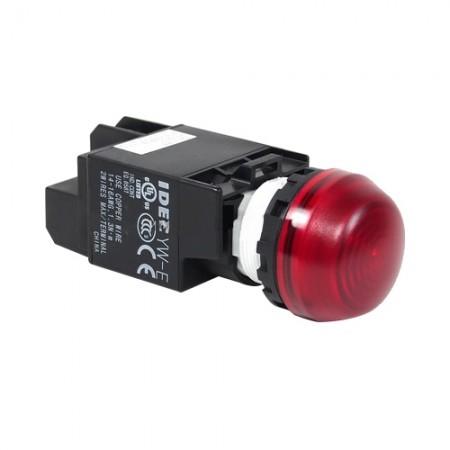 ไพล็อตแลม 22มม LED YW1P-2EQ4/24V สีแดง IDEC