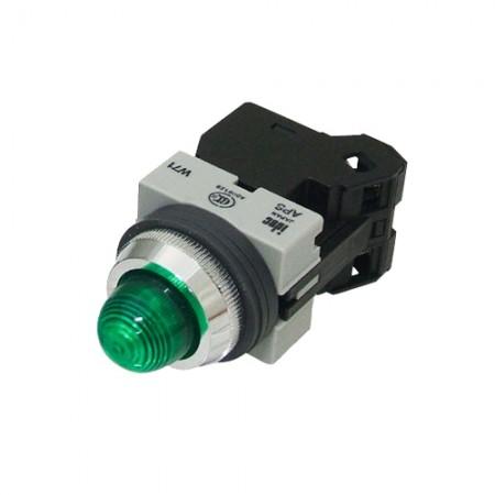 ไพล็อตแลม 25มม LED APS126N-G สีเขียว IDEC