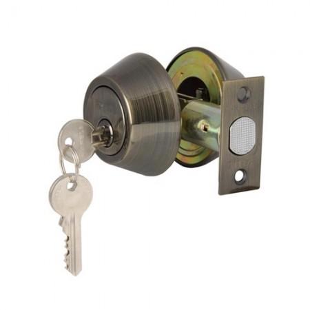 กุญแจลิ้นตาย 2 ด้าน ทองเหลืองรมดำ 911.64.230 HAFELE