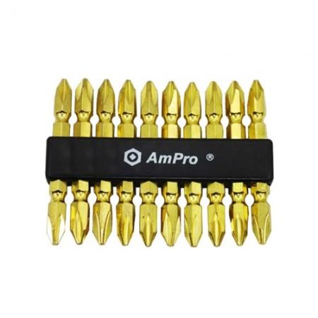 ดอกไขควงลม AMPRO สีทอง #T33290