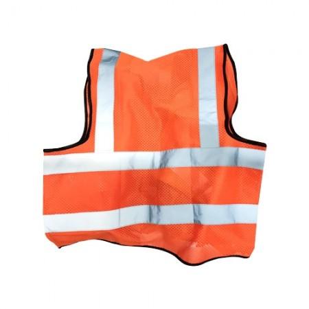 เสื้อจราจรสะท้อน นิ่ม-002-O EAGLE ส้ม