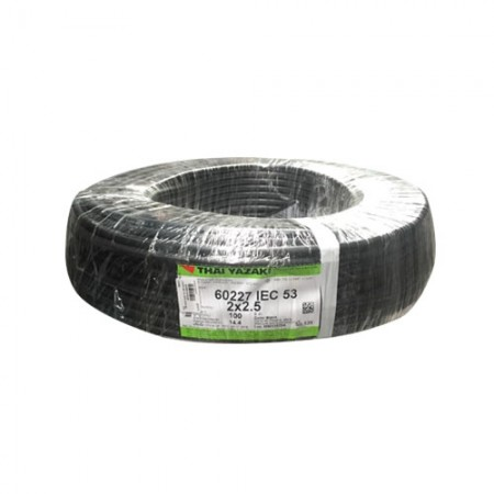 สายไฟ (IEC 53 VCT) 2*2.5 มม 100ม. YAZAKI