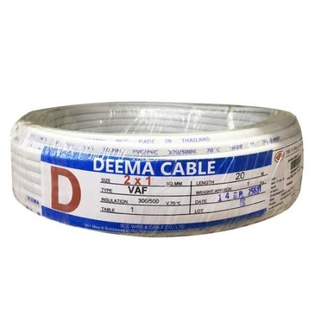 สายไฟคู่ VAF 2*1.0มม. 20ม. DEEMA