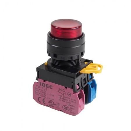 สวิทกดจมมีไฟ22มมYW1L-M2E11QM3220V สีแดง IDEC