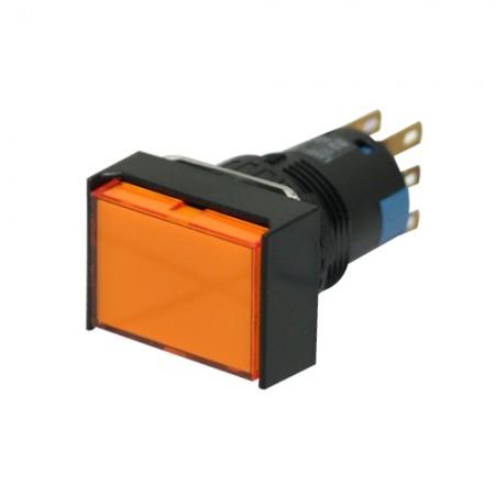 สวิทกดเด้งมีไฟ16มมAL6H-M24A(2NO+2NC)IDEC