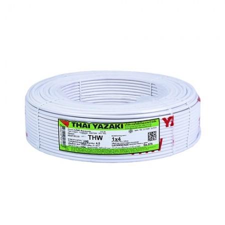 สายไฟเดี่ยว IEC 01 THW 1*4มม. YAZAKI ขาว