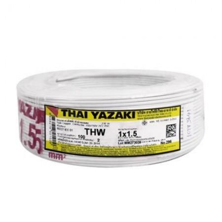 สายไฟเดี่ยว IEC 01 THW 1*1.5 YAZAKI ขาว