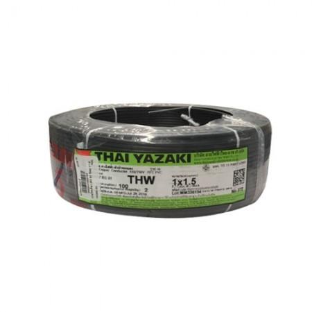 สายไฟเดี่ยว IEC 01 THW 1*1.5 YAZAKI ดำ