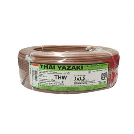 สายไฟเดี่ยว IEC 01 THW 1*1.5 YAZAKI นต