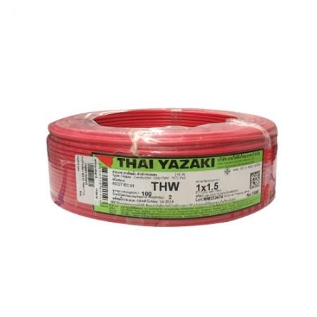 สายไฟเดี่ยว IEC 01 THW 1*1.5 YAZAKI แดง