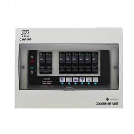 ตู้คอนฯ+เมน มีไฟ 6ช่อง 50A U-6 CHANG