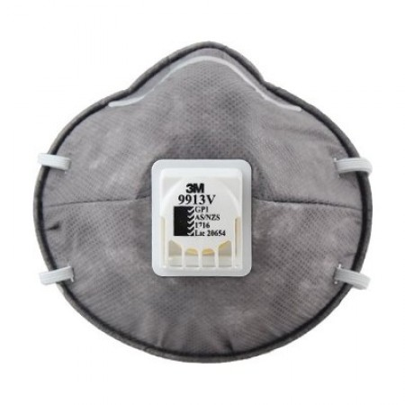 3M™ 9913V หน้ากากกรองไอระเหยสารอินทรีย์, P1 (10ชิ้น)