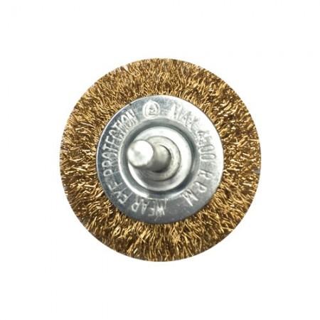 แปรงลวดกลม มีแกน 50มม ทองเหลือง 2 HYD
