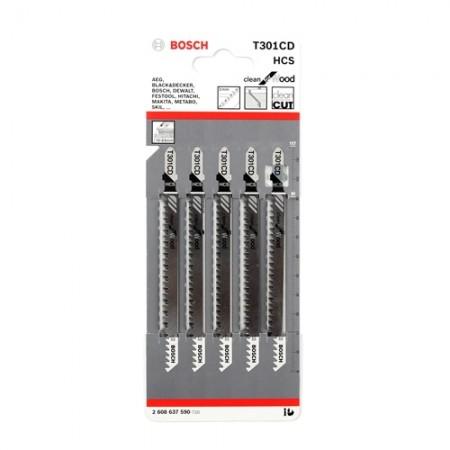 ใบเลื่อยจิ๊กซอ T301CD BOSCH (5ใบ)