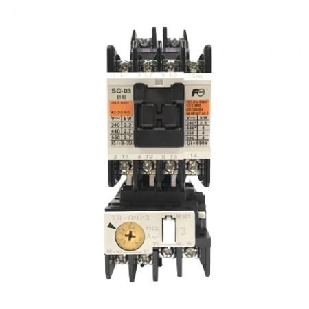 แมกเนติกSC-03+TR-0N/3 2.2A-3.4A380V FUJI