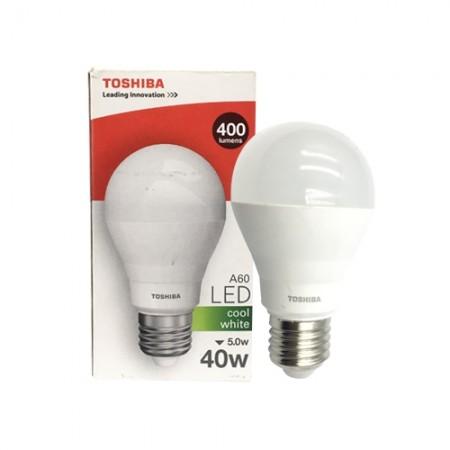 หลอดไฟ LED A60 5W คลูไวท์ E27 G3 TOSHIBA