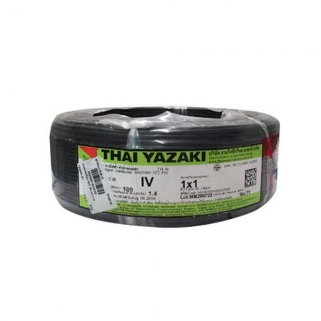 สายไฟเดี่ยว IEC 05 IV1*1.0 YAZAKI ดำ