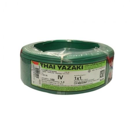 สายไฟเดี่ยว IEC 05 IV1*1.0 YAZAKI เขียว