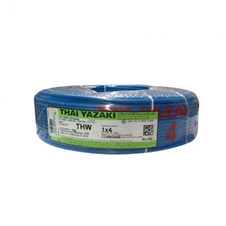 สายไฟเดี่ยว (IEC 01 THW) 1*4 YAZAKI น้ำเงิน