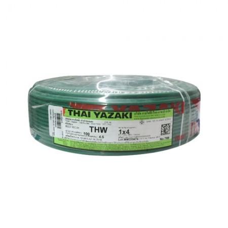 สายไฟเดี่ยว IEC 01 THW1*4มม YAZAKI เขียว