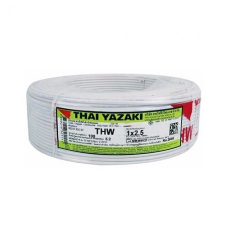 สายไฟเดี่ยว IEC 01 THW 1*2.5 YAZAKI ขาว