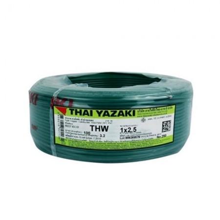 สายไฟเดี่ยว IEC 01 THW 1*2.5 YAZAKIเขียว