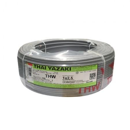 สายไฟเดี่ยว IEC 01 THW 1*2.5 YAZAKI  เทา