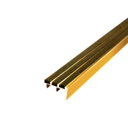 จมูกบันได ทองเหลือง 1.1/2*4ม. APACE