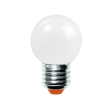 หลอดไฟ LED BALL 1W ขาว LAMPTAN