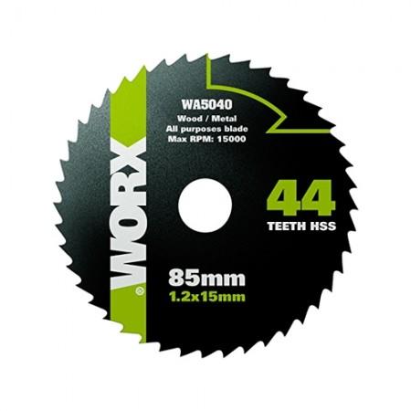 ใบเลื่อยเหล็กHSS85/1.2/15mm WA5040 WORX