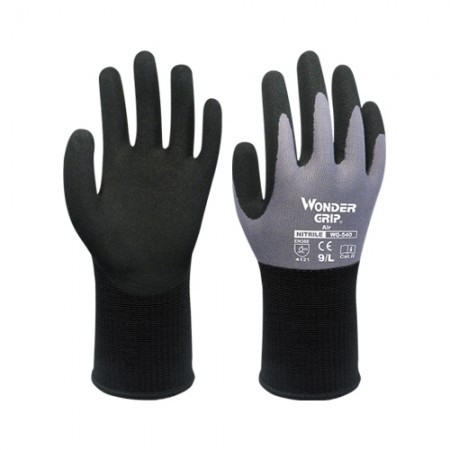ถุงมือผ้าเคลือบยางไนไตร 540 WDG, L