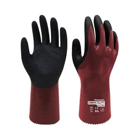 ถุงมือผ้ากันบาด/น้ำมัน728 WDG, L